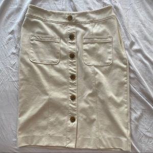 Banana republic beige pencil skirt with slit
